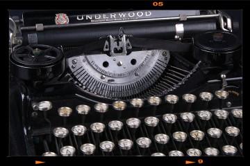 Antik írógép - Underwood Nr.II