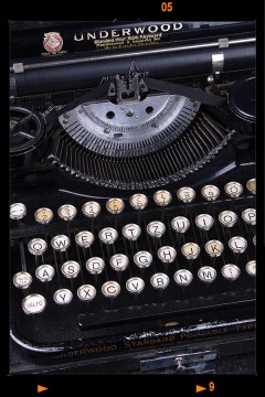 Antik írógép - Underwood Nr.I