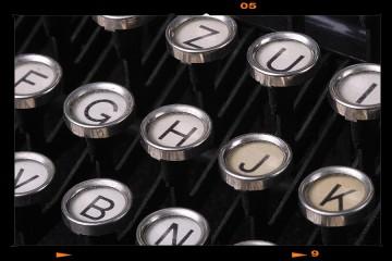 Antik írógép - Underwood Nr.V