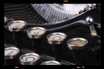 Antik írógép - Underwood Nr.VI