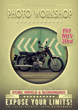 Royal Enfield Classic - Flyer Poster